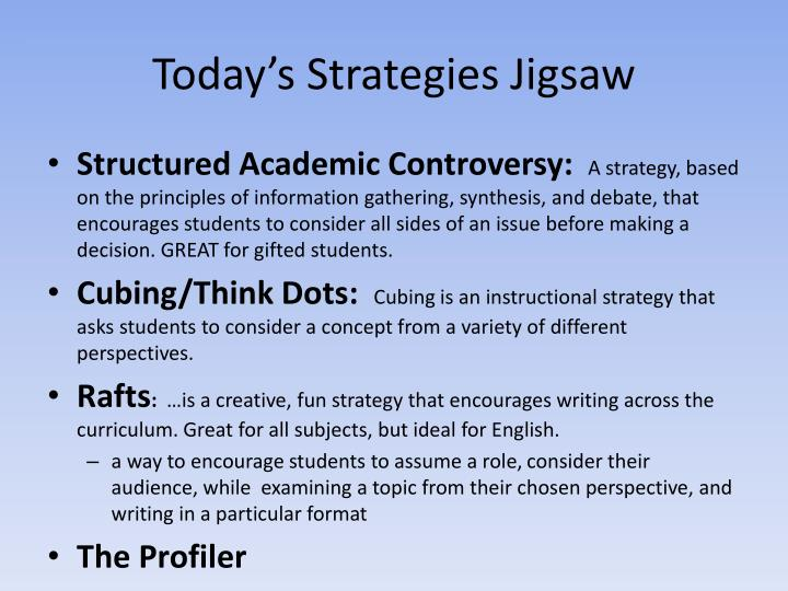 Today's Strategies Jigsaw
