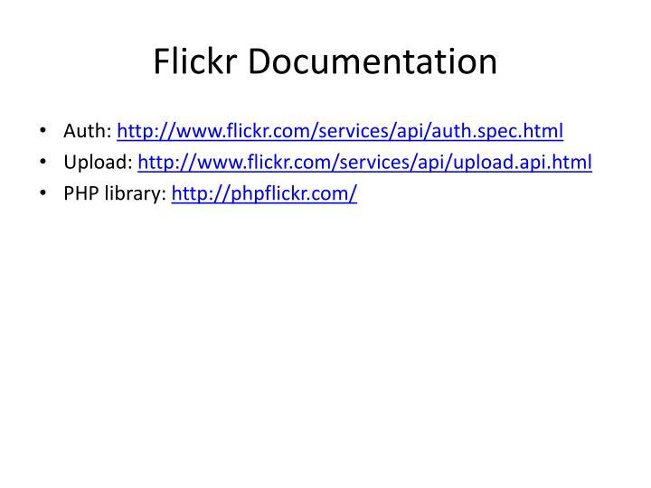 Flickr Documentation