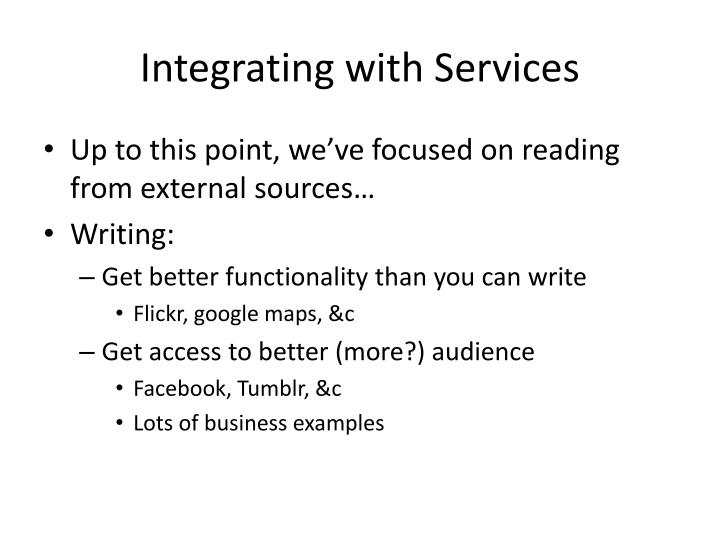 Integrating with Services