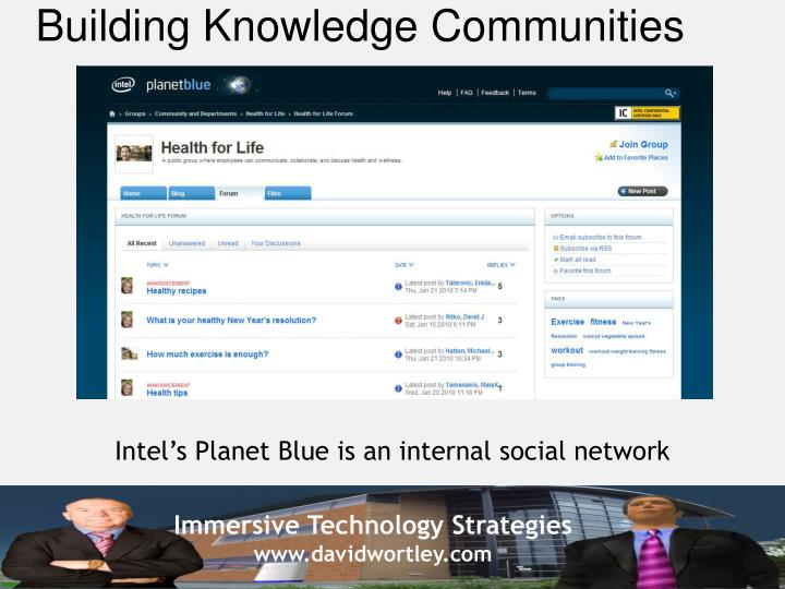 Building Knowledge Communities