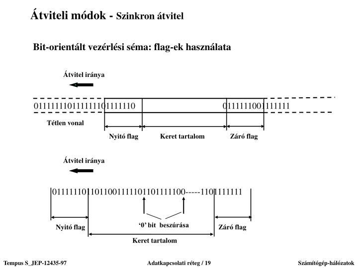 Bit-orientált vezérlési séma: flag-ek használata