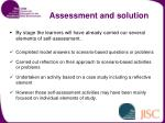 assessment and solution