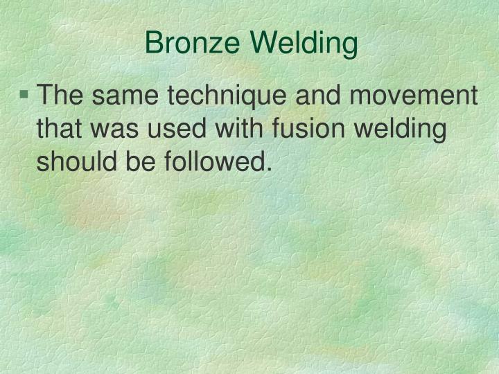 Bronze Welding