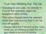 fuel gas welding eqt set up8