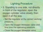 lighting procedure1