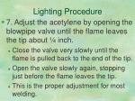 lighting procedure5