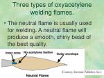 three types of oxyacetylene welding flames