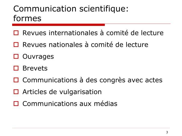 Communication scientifique: