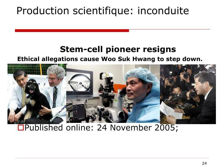 Production scientifique: inconduite