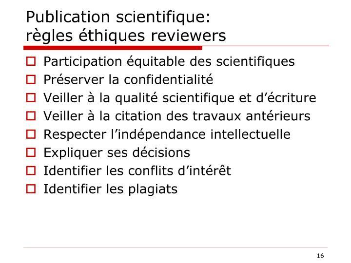 Publication scientifique: