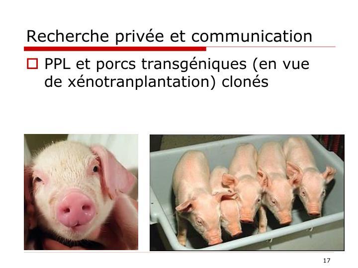Recherche privée et communication