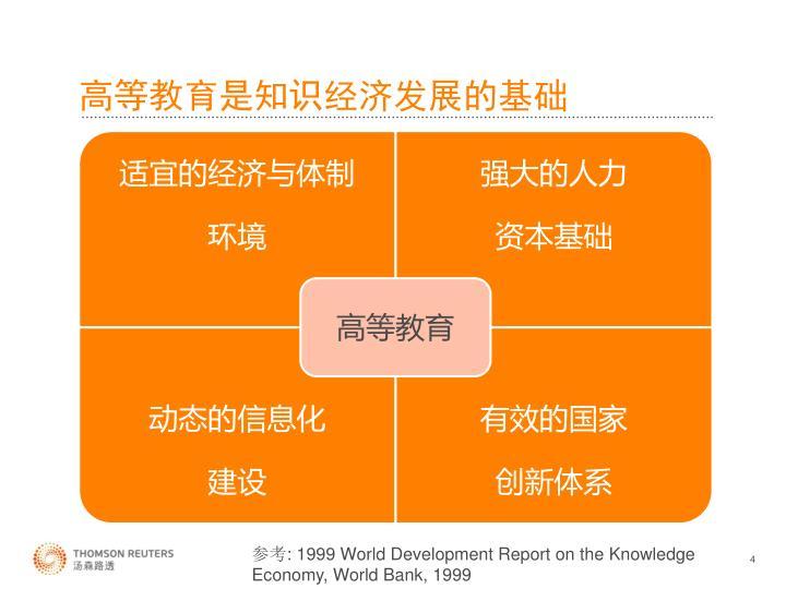 高等教育是知识经济发展的基础