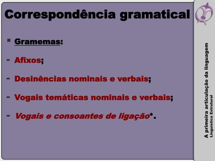 Correspondência gramatical