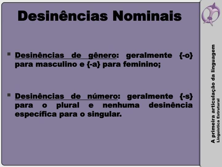 Desinências Nominais