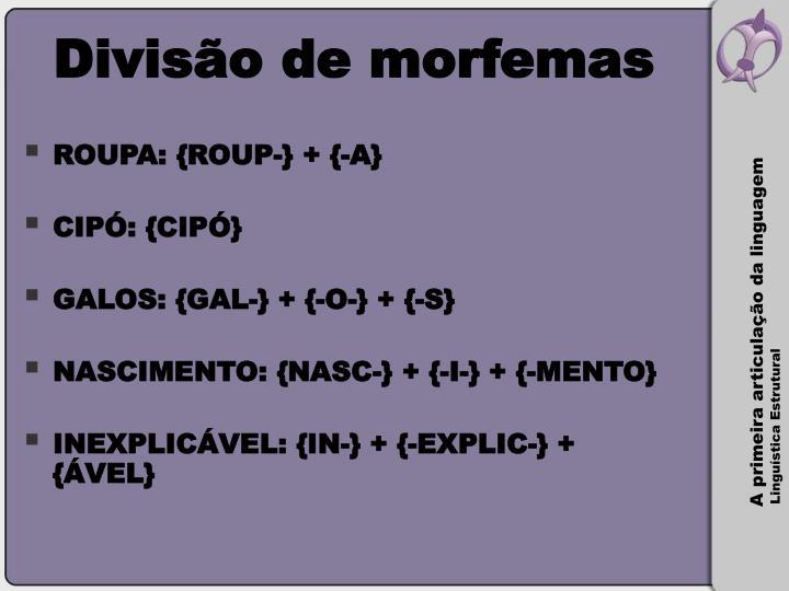 Divisão de morfemas