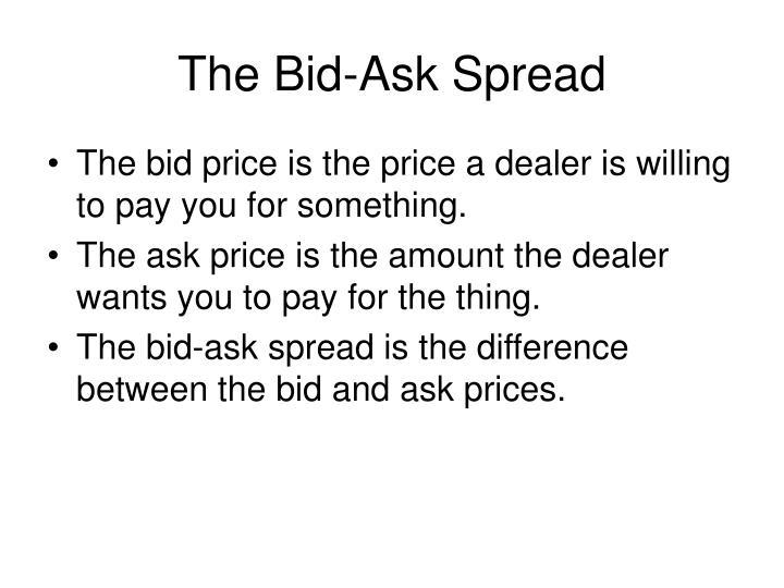 The Bid-Ask Spread