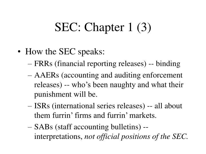 SEC: Chapter 1 (3)