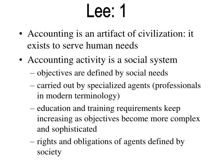 Lee: 1