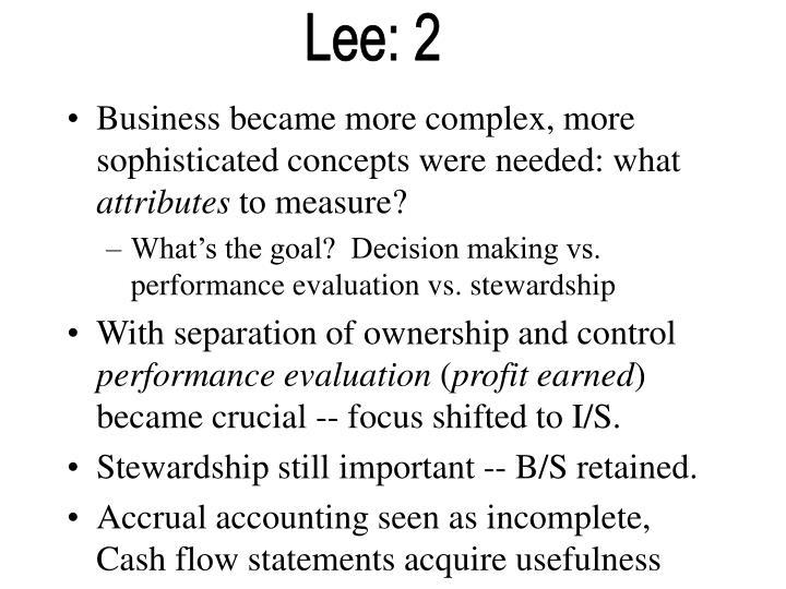 Lee: 2