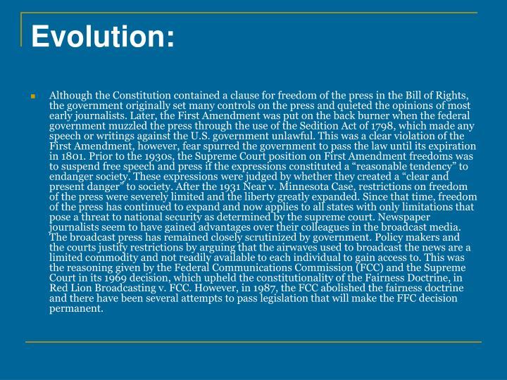 Evolution: