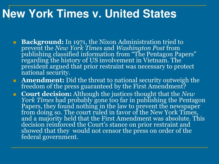 New York Times v. United States