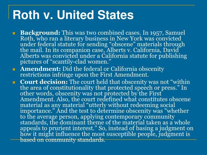 Roth v. United States