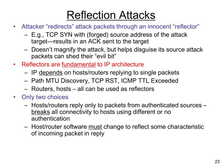 Reflection Attacks