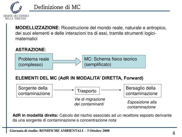 Definizione di MC