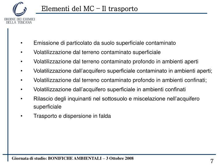 Elementi del MC – Il trasporto
