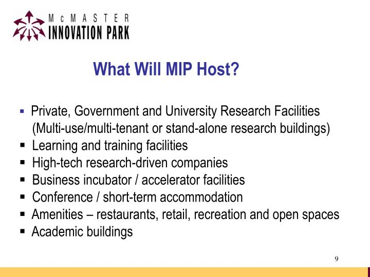 What Will MIP Host?
