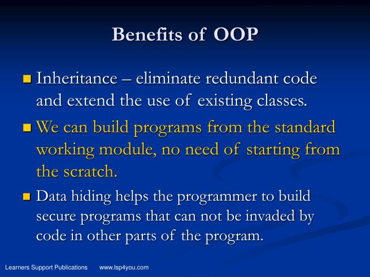 Benefits of OOP