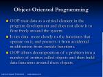 object oriented programming2