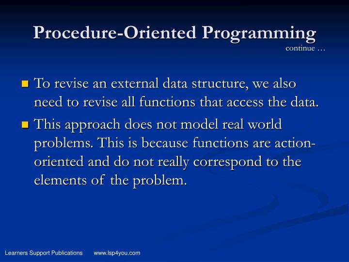 Procedure-Oriented Programming