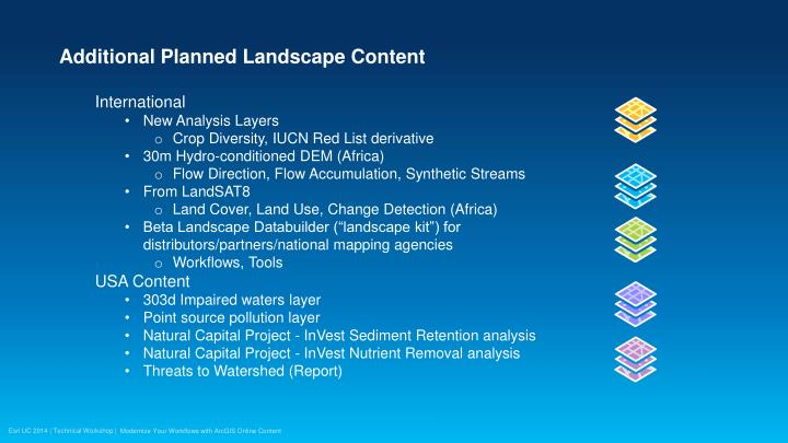 Additional Planned Landscape Content