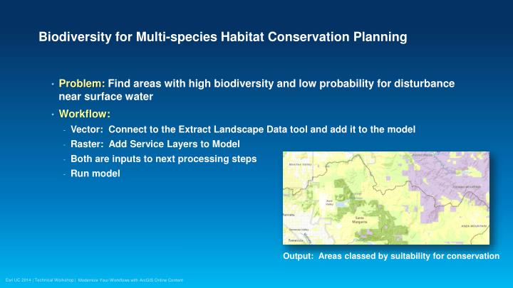 Biodiversity for Multi-species Habitat Conservation Planning