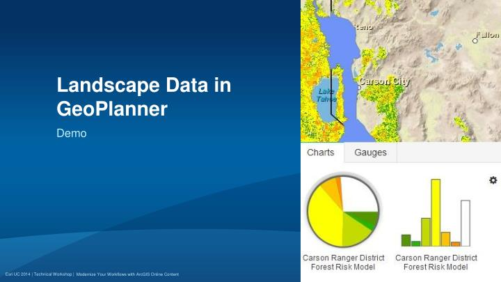 Landscape Data in GeoPlanner