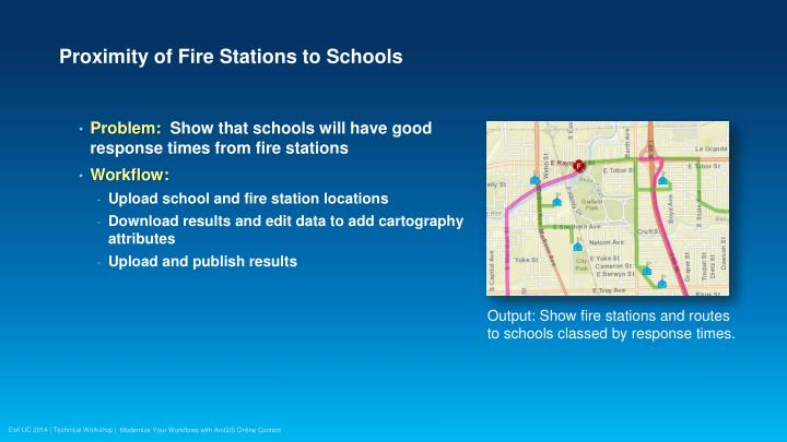 Proximity of Fire Stations to Schools