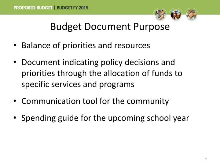Budget Document Purpose