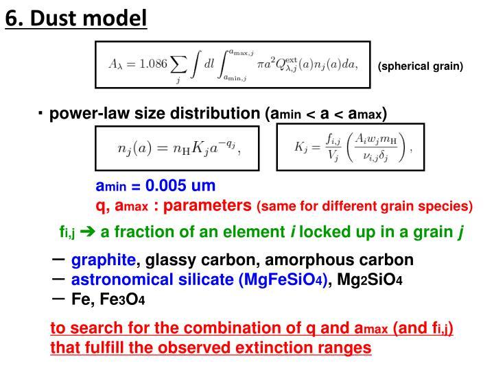 6. Dust model