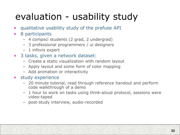 evaluation - usability study