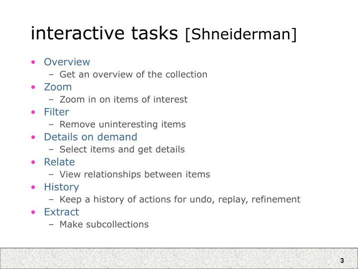 interactive tasks