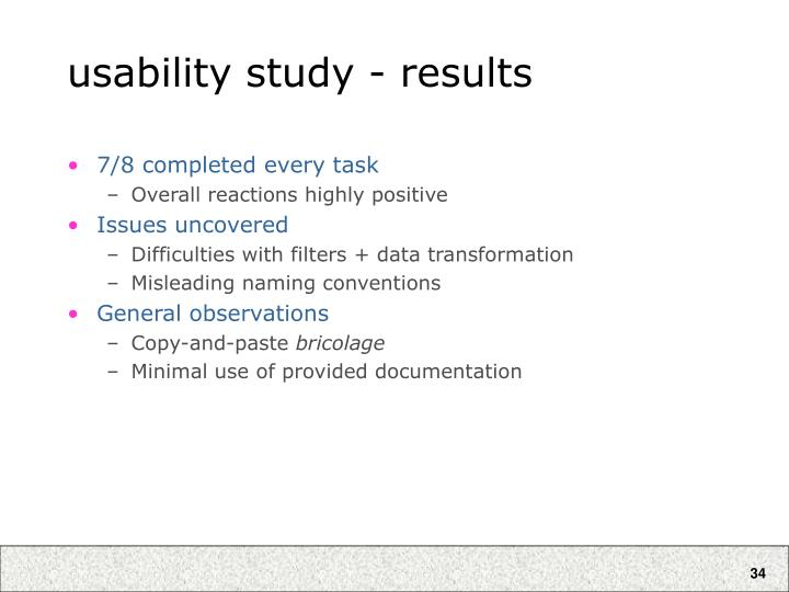 usability study - results