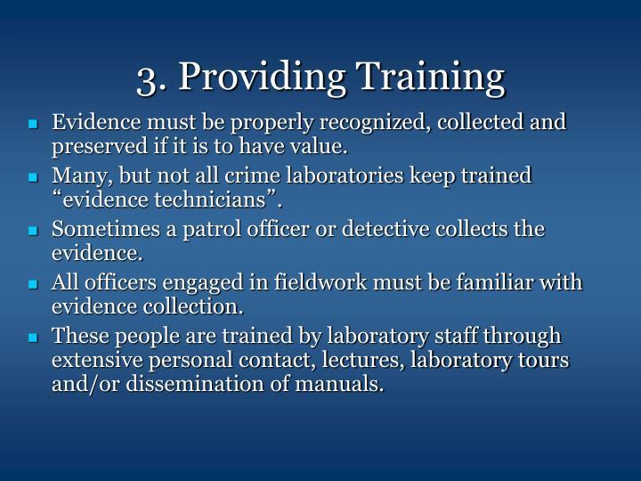3. Providing Training