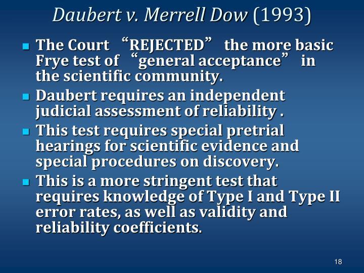 Daubert v. Merrell Dow