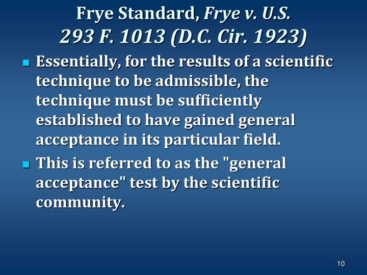 Frye Standard,