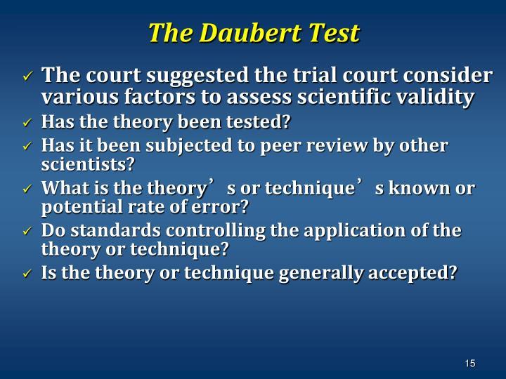 The Daubert Test