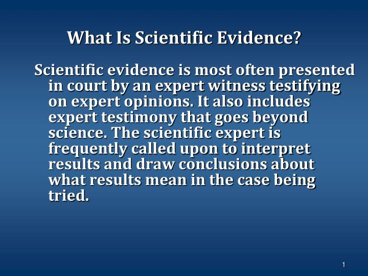 what is scientific evidence