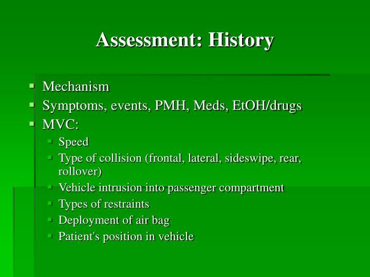 Assessment: History