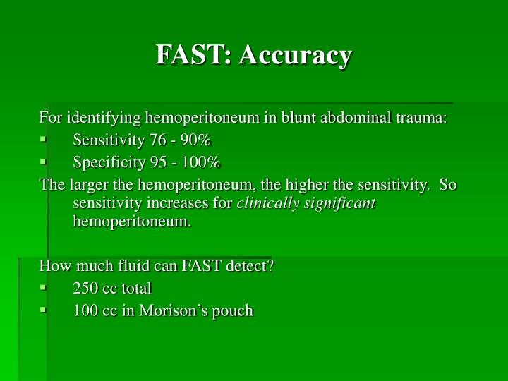 FAST: Accuracy