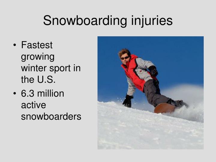 Snowboarding injuries